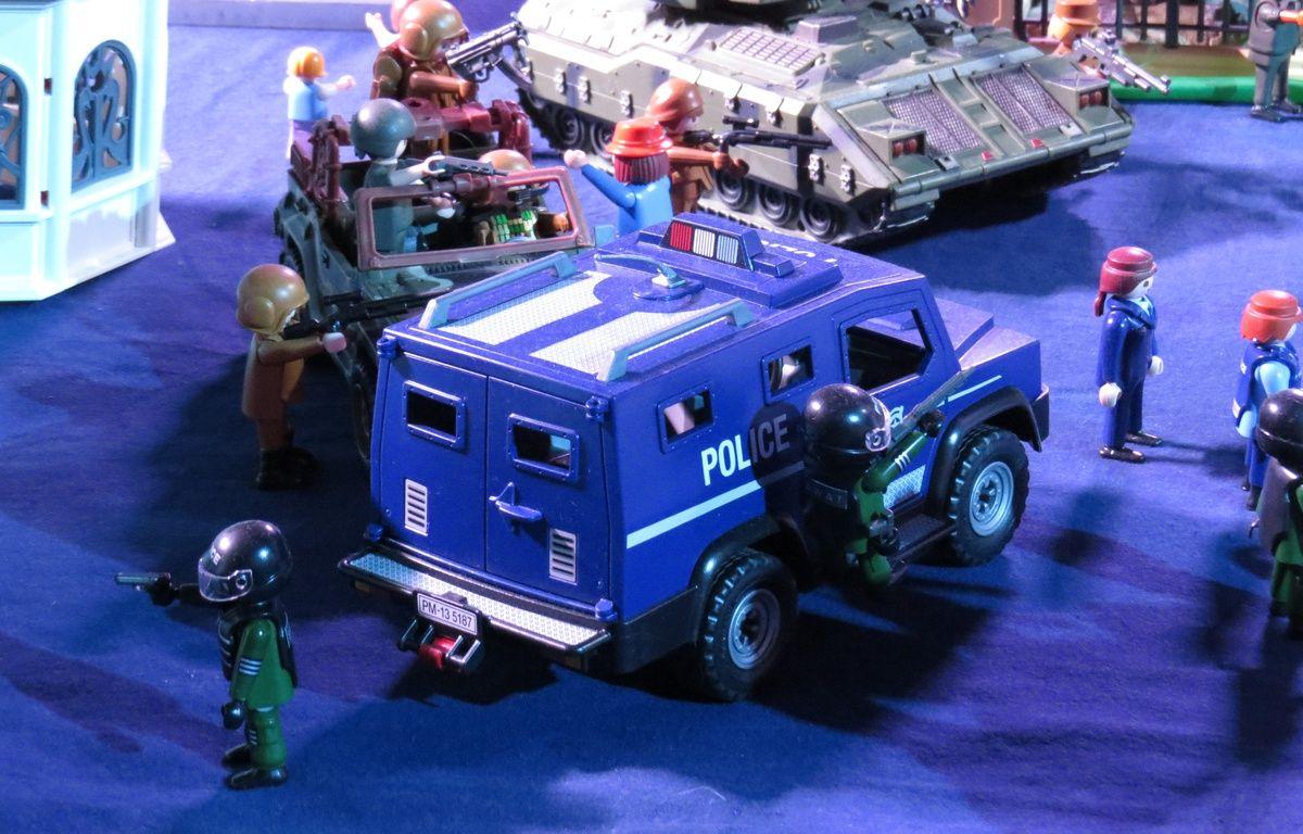 Mini World accueille jusqu'au 18 avril, une exposition consacrée aux Playmobil, à travers six films. Ici Ghostbusters. – C. Girardon / 20 Minutes
