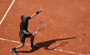 Le Français Jo-Wilfried Tsonga, le 27 mai 2015, à Roland-Garros.
