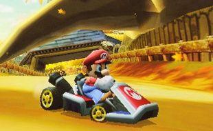 Le jeu Mario Kart sur Nintendo 3DS. Illustration.