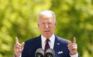 Le président américain Joe Biden le 27 avril 2021 à la Maison Blanche.