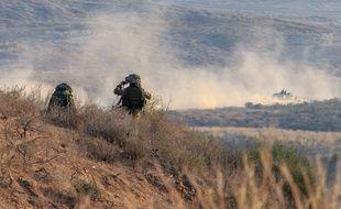 Illustration de soldats israéliens dans le nord de la Bande de Gaza, le 21 juillet 2014.