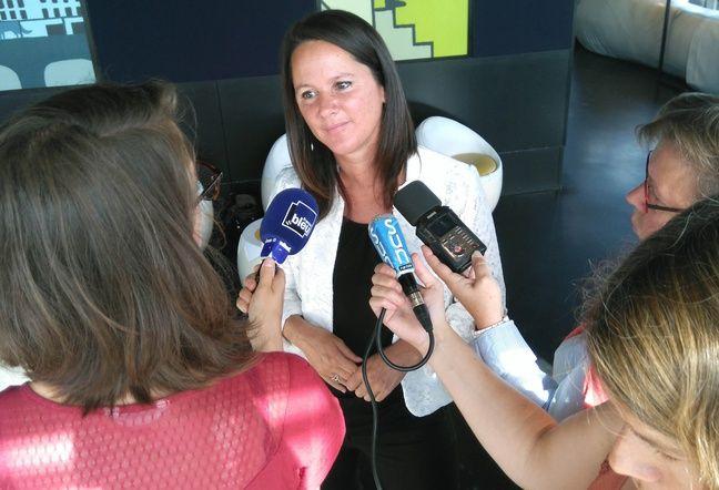 Johanna Rolland, lors de sa conférence de presse de rentrée le 2 septembre 2016 à Nantes.