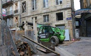 Travaux sur l'immeuble au 8, rue Vieille-Tour à Bordeaux, le 16 décembre 2015
