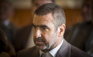 Eric Cantona sur le tournage du film