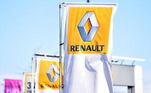 Un drapeau aux couleurs de Renault