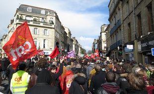 Manifestation bordelaise contre le projet de loi El Khomri.