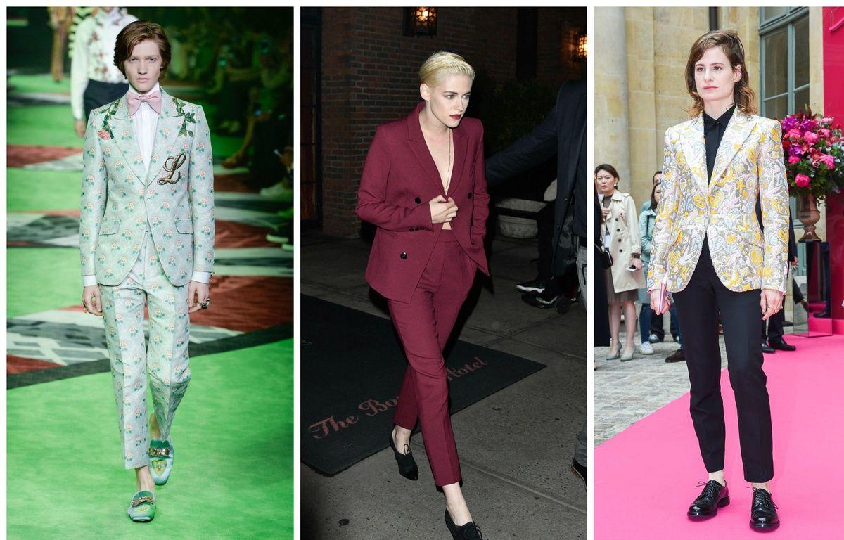 Défilé Gucci Hommes Printemps-été 2017, l'actrice Kristen Stewart, la chanteuse Christine and The Queens. – PIXELFORMULA/CMG/ZOJ/WENN.COM/SIPA