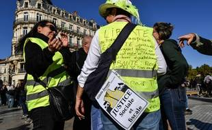 """Des """"gilets jaunes"""" à Montpellier, illustration"""