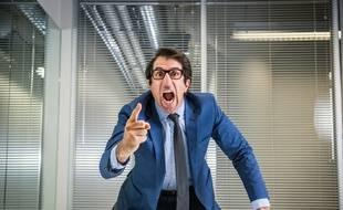 Un patron en colère après l'écoute de Juste un droit.