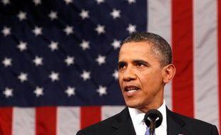 Barack Obama, lors de son discours face au Congrès pour présenter son plan de relance de l'emploi, le 8 septembre 2011.