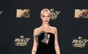 L'actrice et mannequin Cara Delevingne aux MTV Movie And TV Awards