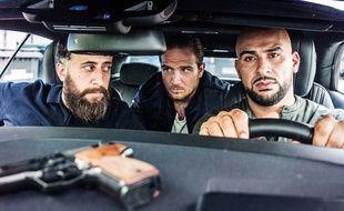 Toni (Kida Khodr Ramadan), Vince (Frederick Lau) et  Abbas (Aşık Veysel) dans la série «4 Blaocks».
