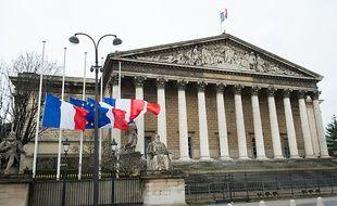 Le 8 janvier 2015, jour de deuil national, les drapeaux étaient en berne devant l'Assemblée Nationale.