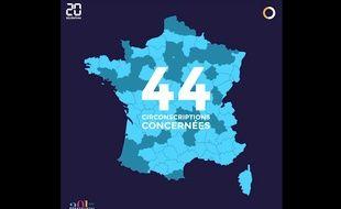 Capture d'écran de la vidéo de la Netscouade sur les circonscriptions concernées par les sénatoriales 2017.