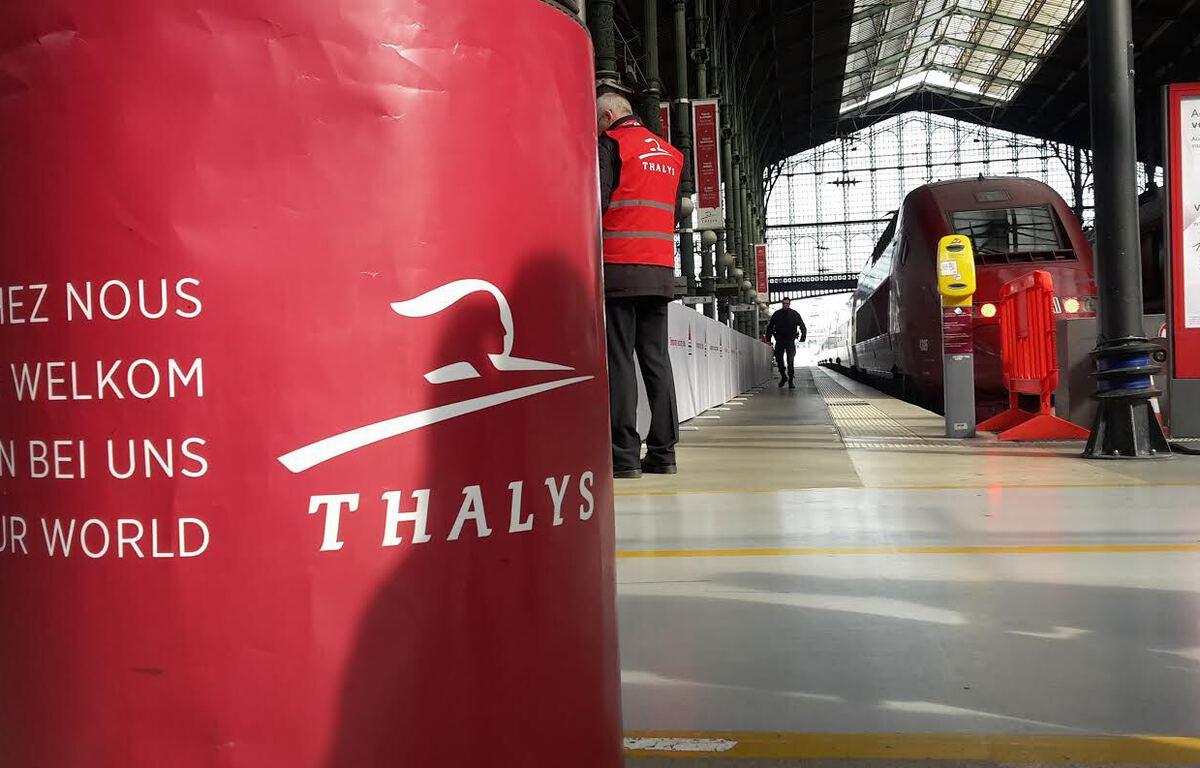 La Gare du Nord après l'arrêt du  trafic des Thalys à la suite des attentats de Bruxelles – R.LESCURIEUX