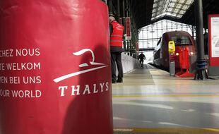 La Gare du Nord après l'arrêt du  trafic des Thalys à la suite des attentats de Bruxelles
