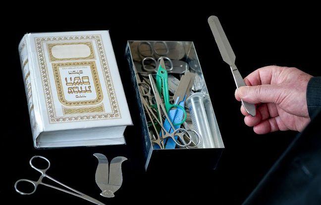 Le matériel médical utilisé par le rabbin lors de la circoncision.