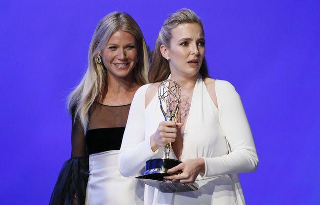 Gwyneth Paltrow, et Jodie Comer, aux Emmy Awards le 22 septembre 2019, à Los Angeles.