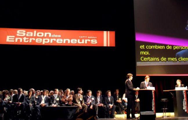 Bill Gates anime une conférence lors du désormais traditionnel Salon des entrepreneurs.