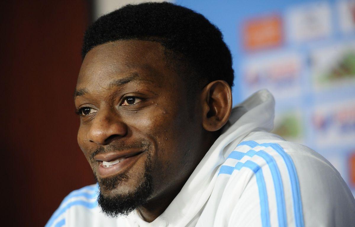 Abou Diaby en conférence de presse à Marseille le 16 mars 2016. – Franck PENNANT / AFP