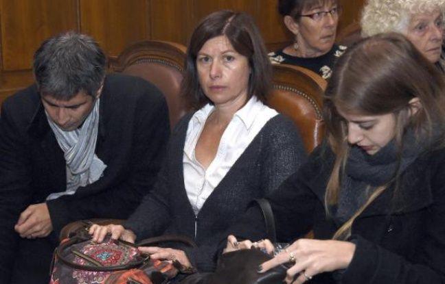 Karine Bonhoure, la mère de Léa, le 17 novembre 2014 au tribunal à Montpellier
