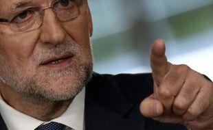 Le Premier ministre espagnol Mariano Rajoy, lors d'une conférence de presse à Madrid le 31 juillet 2015