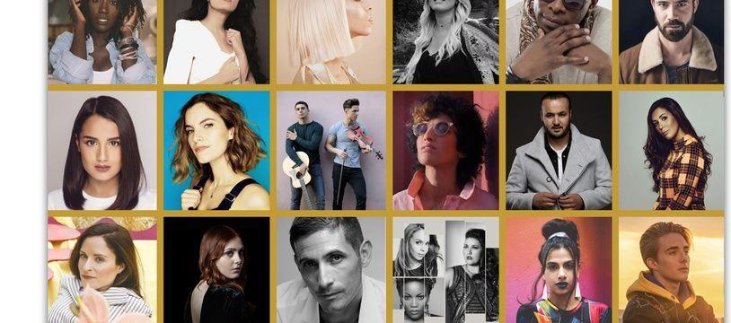 Les 18 candidats de «Destination Eurovision» 2019.