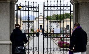 Un enterrement à huis clos en Italie, une mesure de protection durant l'épidémie de coronavirus (illustration)