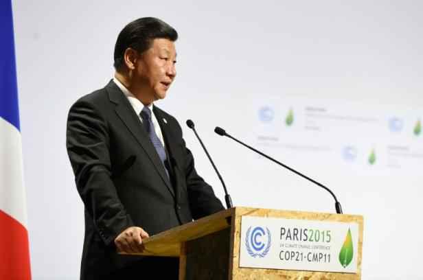 Le président chinois Xi Jinping, le 30 novembre 2015 à Paris