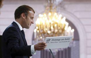 Le président français Emmanuel Macron, à l'Elysée, le lundi 20 septembre 2021, à Paris.