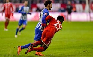 Kingsley Coman, l'attaquant français du Bayern Munich, s'est blessé sérieusement ce week-end face au Herta Berlin.