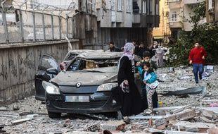Une forte explosion s'est produite le 4 novembre 2016 à Diyarbakir, en Turquie.