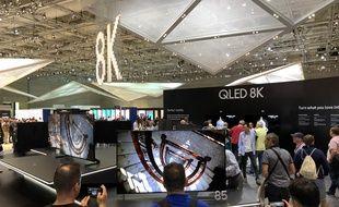 Les téléviseurs 8K sur le stand Samsung, au salon IFA de Berlin 2018.