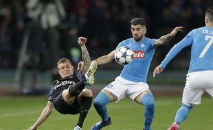 Naples fait souffrir le Real Madrid, en 8e de finale retour de Ligue des champions, le 7 mars 2017 à San Paolo.