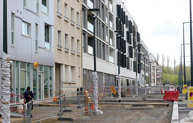 En travaux depuis 15 ans, la rue de l'Alma, à Rennes, est bordée d'immeubles neufs. Ici en avril 2017.