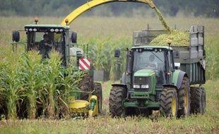 Récolte de maïs dans l'ouest de la France en septembre 2014