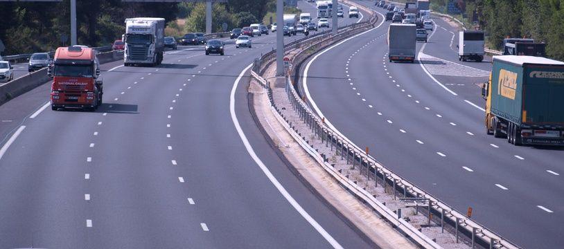 L'autoroute A9 à Montpellier (illustration)