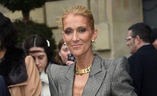 La chanteuse Céline Dion pendant la Couture Fashion Week