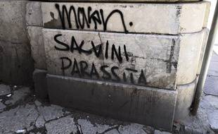 Un tag anti-Salvini, à Palerme.