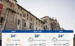 Météo Chambéry: Prévisions du samedi 24 juillet 2021