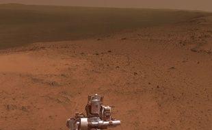 Panorama martien vu depuis Cape Tribulation par Opportunity, janvier 2015.