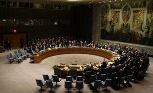 Le Conseil de sécurité des Nations Unies, à New York.