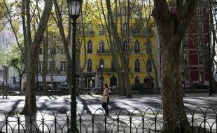 Les rues de Lisbonne le samedi 31 octobre alors que l'extension du confinement a été annoncé par le gouvernement.