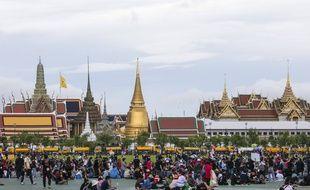Des manifestants à Bangkok devant le Palais Royal, le 20 septembre 2020.