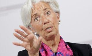 Christine Lagarde lors d'une conférence de presse le 17 juin 2016 à Vienne en Autriche