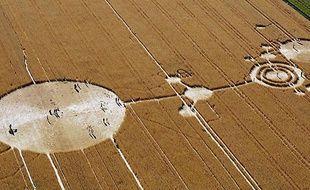 Vue aérienne d'un champs aux alentours de Rockville, aux Etats-Unis, le 5 juillet 2003.