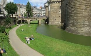 Nantes, le 7 septembre 2014: le château des ducs de Bretagne