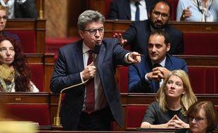 Jean-Luc Mélenchon à l'Assemblée nationale, le 16 octobre 2018.