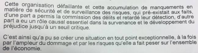 Extrait de l'arrêt de la Cour d'appel de Versailles.