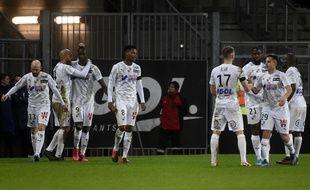 L'équipe d'Amiens, sur le terrain.